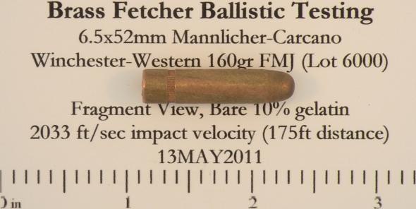 6.5x52mm 160gr FMJ