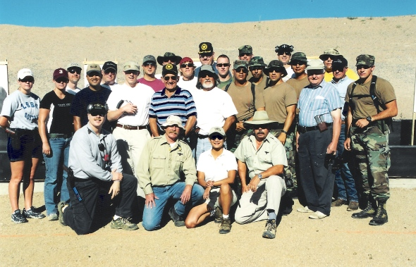 Me wearing a hat at Gunsite 2003.  3-color Day Desert.